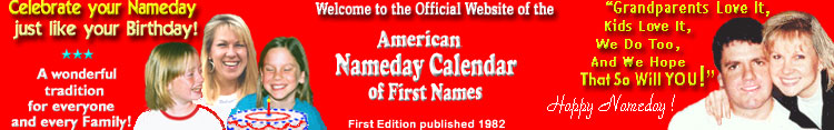 American Nameday Calendar - Home Page
